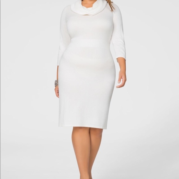 23ec6a65976 Ashley Stewart Dresses   Skirts - Ashley Stewart Cowl Neck Banded Sweater  Dress